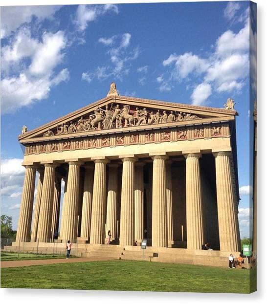 The Parthenon Canvas Print - Nashville Parthenon by Sarah