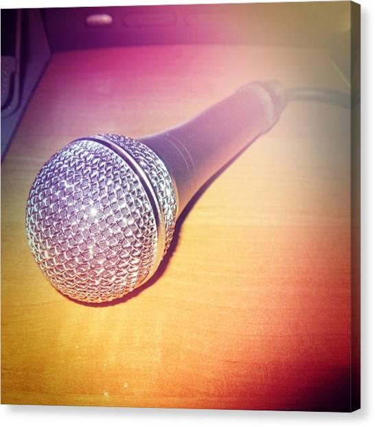 Microphones Canvas Print - Instagram Photo by Igor Shevchenko