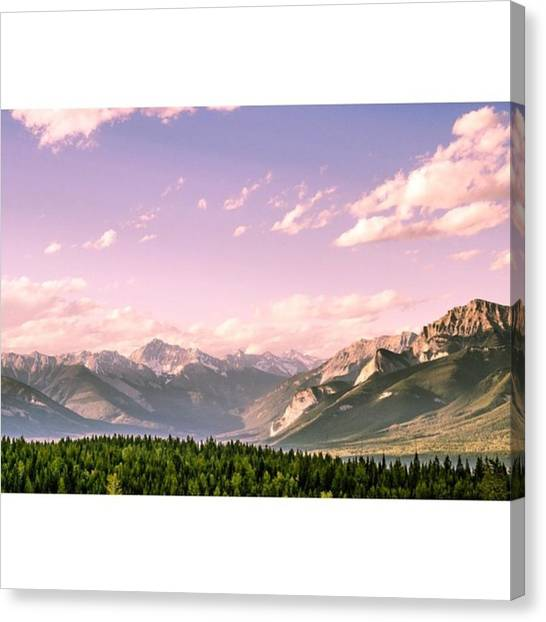 Scotty Canvas Print - 8pm View Of The Rockies From Kicking by Scotty Brown