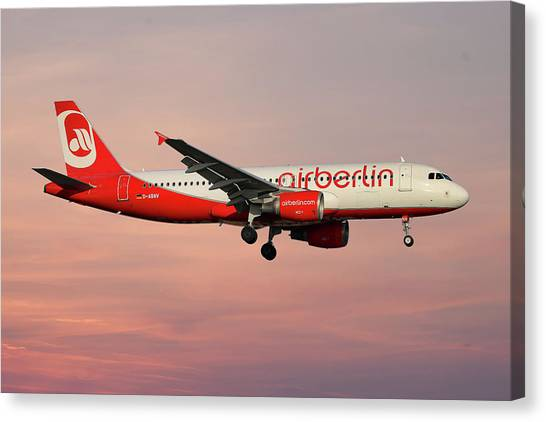 Canvas Print - Air Berlin Airbus A320-214 by Smart Aviation