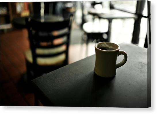 Keyboards Canvas Print - Coffee by Maye Loeser