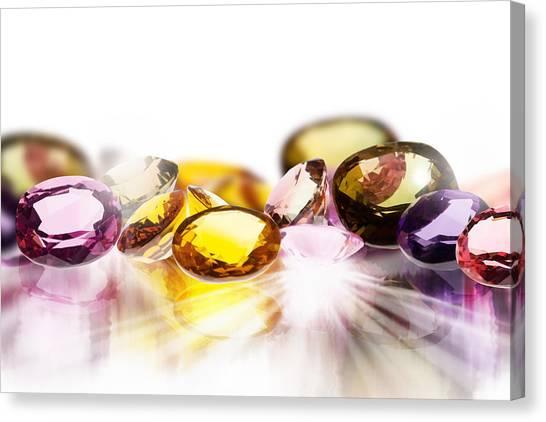 Gemstones Canvas Print - Colorful Gems by Setsiri Silapasuwanchai