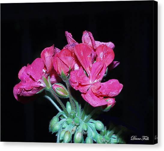 Flower Canvas Print by Diane Falk