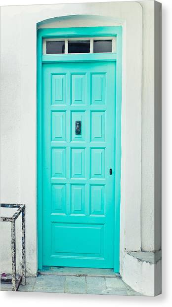 Old Door Canvas Print - Front Door by Tom Gowanlock