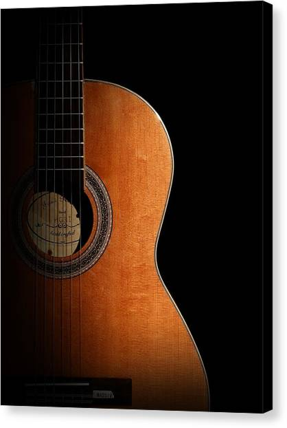 Musical Instruments Canvas Print - Guitar by Jackie Russo