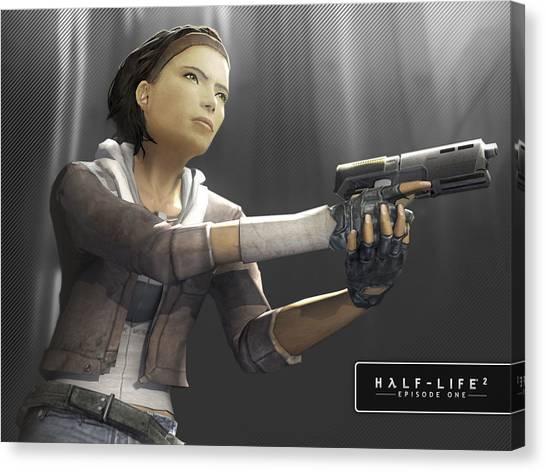 Half Life Canvas Print - Half-life by Mery Moon