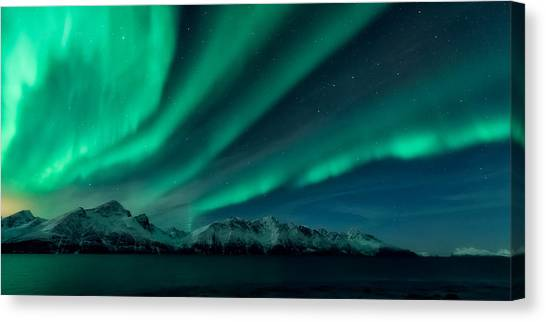 Aurora Borealis Canvas Print - 9 In The Afternoon by Tor-Ivar Naess