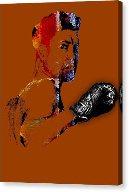 George Foreman Canvas Print - Jack Dempsey Collection by Marvin Blaine