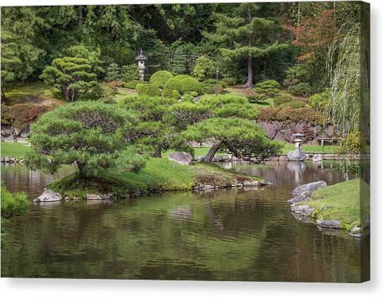 Garden Statues Canvas Print   Japanese Garden By Calazoneu0027s Flics