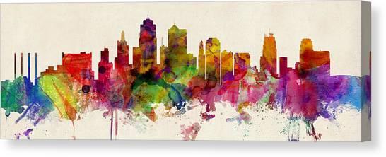 Missouri Canvas Print - Kansas City Skyline by Michael Tompsett