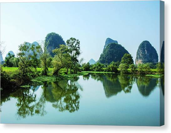 Karst Rural Scenery Canvas Print