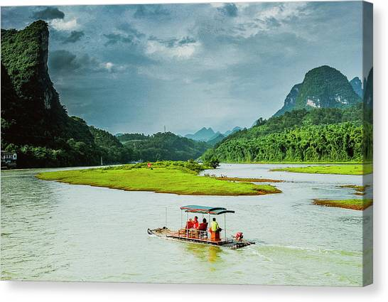 Lijiang River Scenery Canvas Print