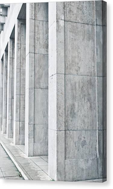 Architectural Detail Canvas Print - Pillars by Tom Gowanlock