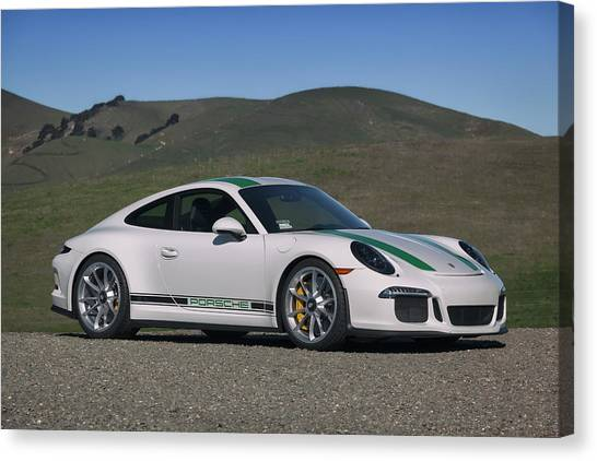 Canvas Print featuring the photograph #porsche #911r #print by ItzKirb Photography