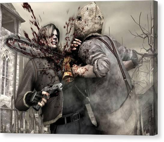 Resident Evil Canvas Print - Resident Evil by Mery Moon