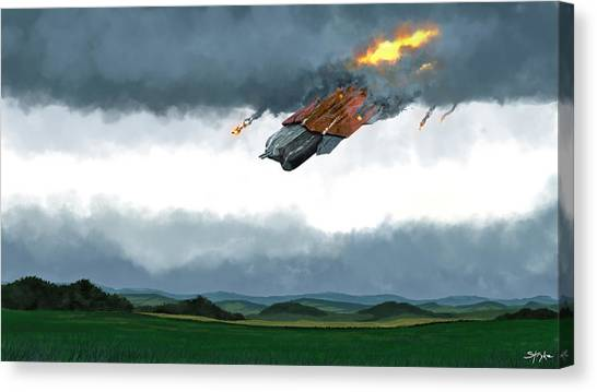 Science Fiction Canvas Print - Sci Fi by Maye Loeser