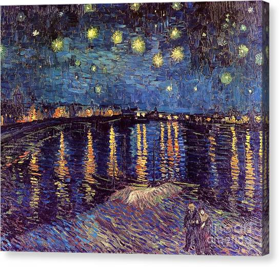 Arles Canvas Print - Starry Night Over The Rhone by Vincent Van Gogh