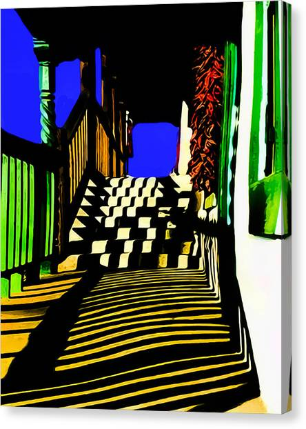 Streets Of Taos Canvas Print