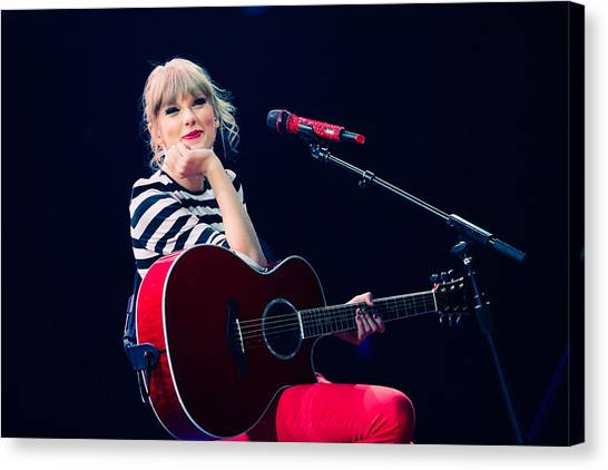 Taylor Swift Canvas Print - Taylor Swift by Super Lovely