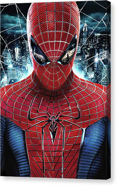 Character Portraits Canvas Print - The Amazing Spider-man 2012 by Fine Artist