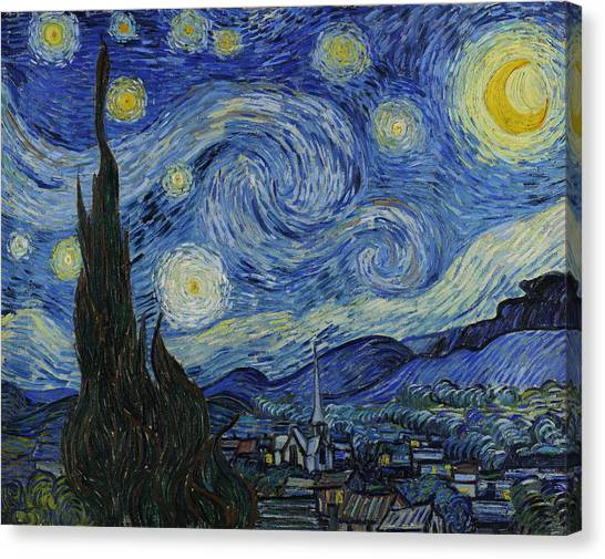 Post-impressionism Canvas Print - The Starry Night by Vincent van Gogh