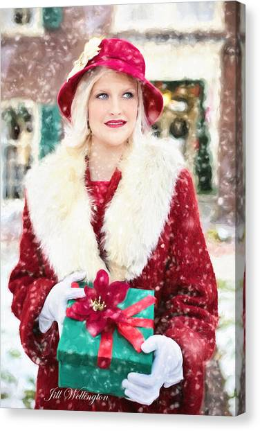 Vintage Val Home For The Holidays Canvas Print