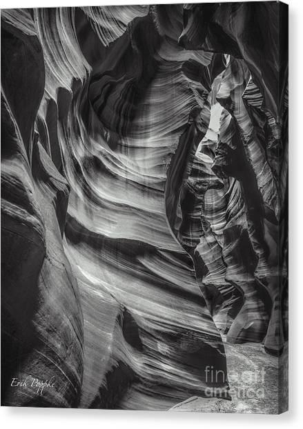 90116 Antelope Canyon Bw Canvas Print