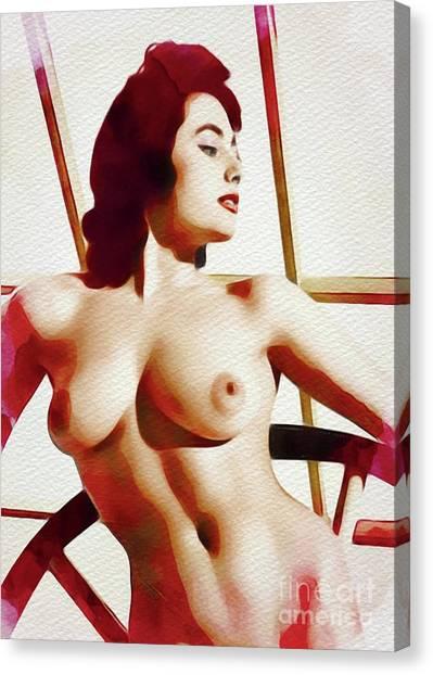Follies Canvas Print - Vintage Pinup by Frank Falcon