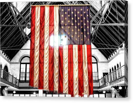 911 Ground Zero Flag Canvas Print by John Rizzuto