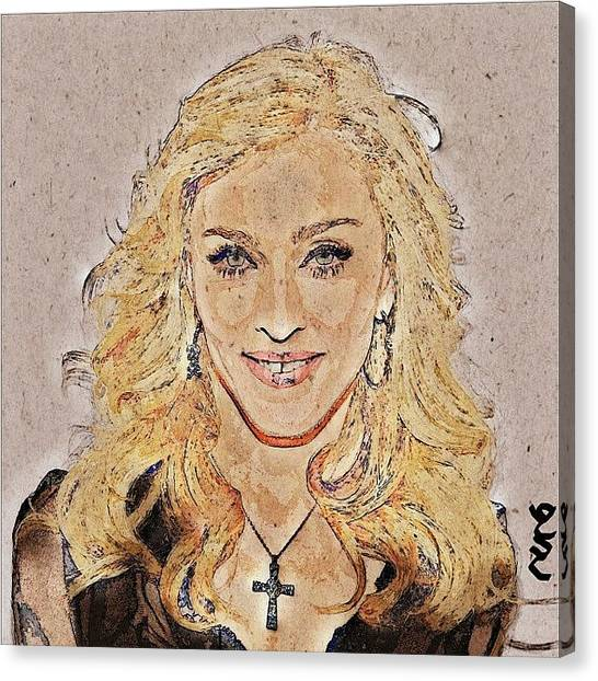 Shakira Canvas Print - Instagram Photo by Nuno Marques