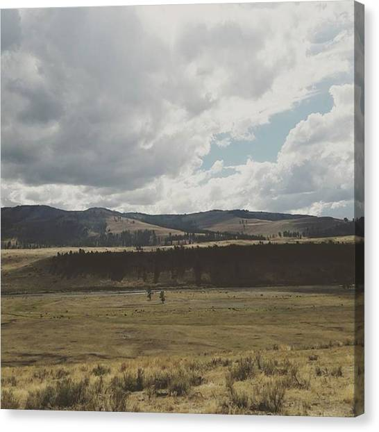 Rocky Mountains Canvas Print - Montana Forever by Jonathan Stoops