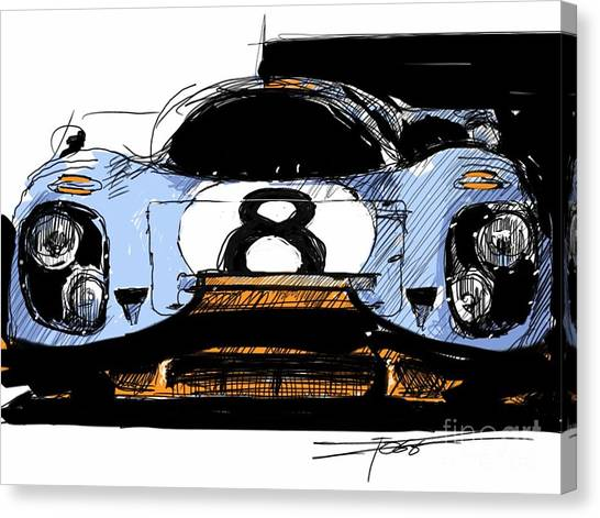 Woman Cave Canvas Print - 917 Illustration Head On by Peter Fogg