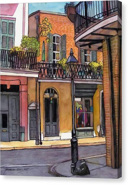 94  French Quarter Sunday Morning Canvas Print by John Boles