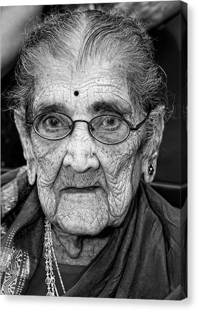 96 Year Old Indian Woman India Day Parade Nyc 2011 Canvas Print