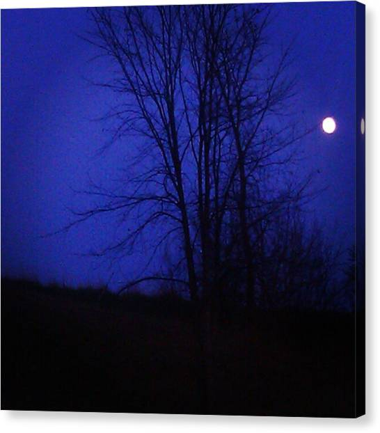 Wolf Moon Canvas Print - Eerie by Lisa Amakye-Ansah