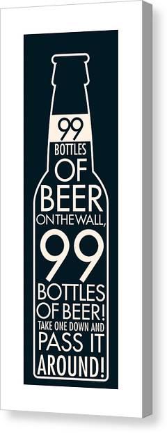 99 Bottles Of Beer  Canvas Print