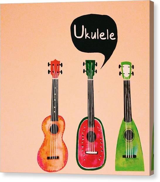 Ukuleles Canvas Print - Instagram Photo by Yenkai Chen