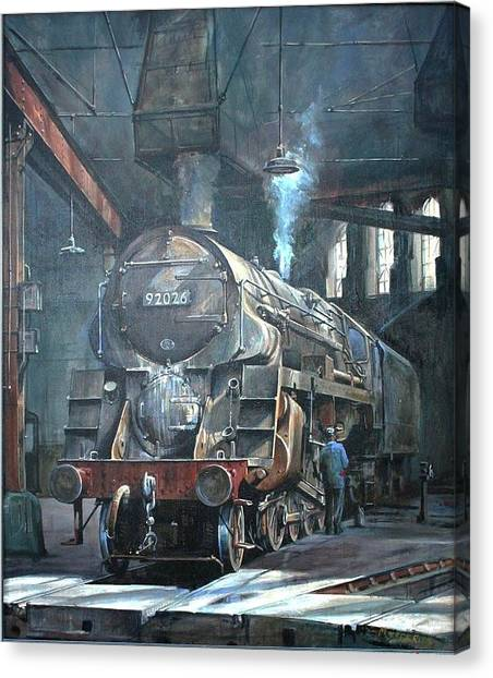 9f On Saltley Shed 1958. Canvas Print by Mike Jeffries