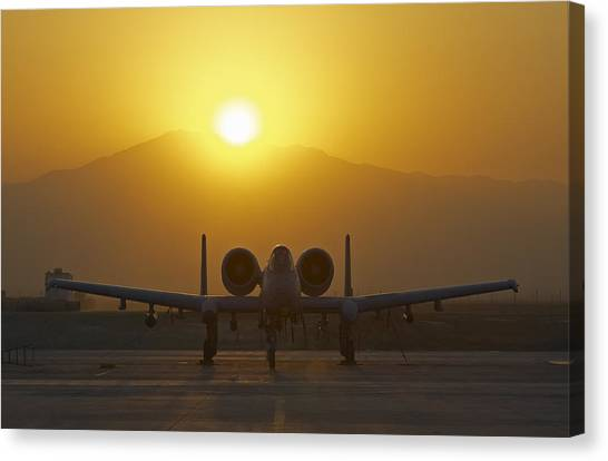 Nato Canvas Print - A-10 Warthog by Tim Grams