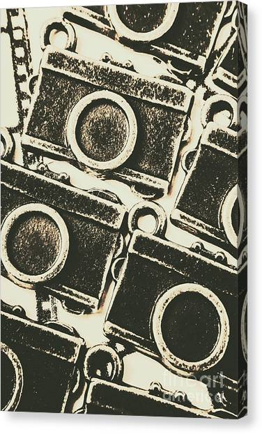 Vintage Camera Canvas Print - A Background In Photography by Jorgo Photography - Wall Art Gallery