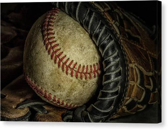 Gloves Canvas Print - A Baseball Still Life by Tom Mc Nemar