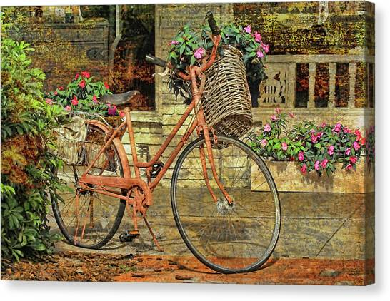 A Basketful Of Spring Canvas Print