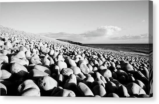 A Beach Of Stones Canvas Print