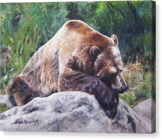 A Bear Of A Prayer Canvas Print