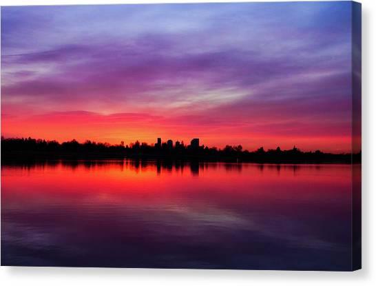Sunrise At Sloan's Lake Canvas Print