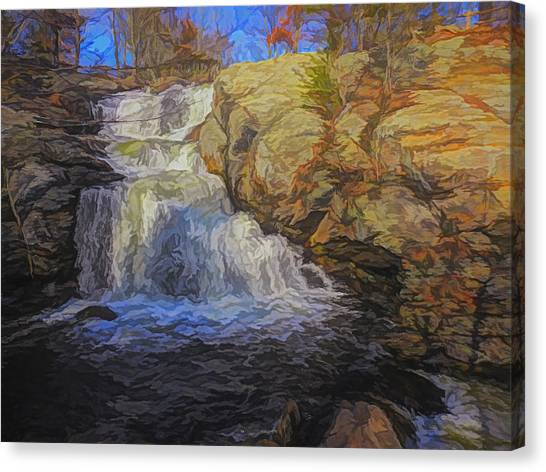 A Beautiful Connecticut Waterfall. Canvas Print
