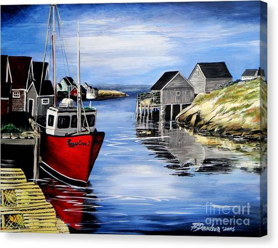 A Beautiful Day At Peggy's Cove  Canvas Print
