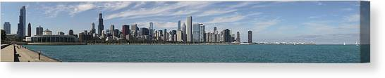 A Beautiful Day In Chicago Canvas Print