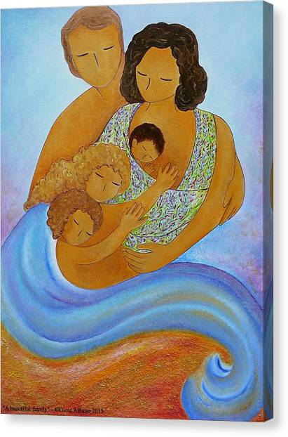 A Beautiful Family Canvas Print