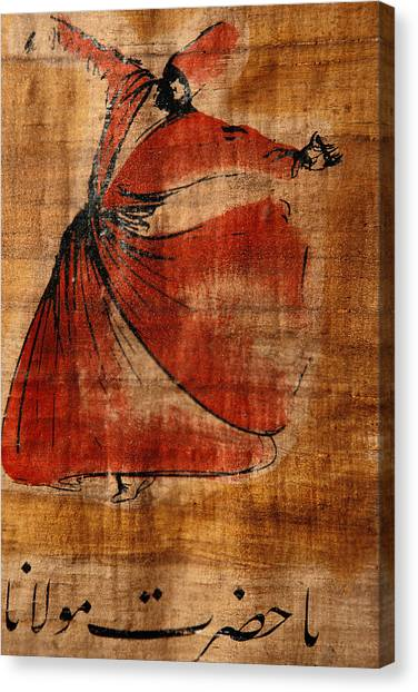 Turkish Canvas Print - A Beautiful Painting Of A Whirling by Gianluca Colla
